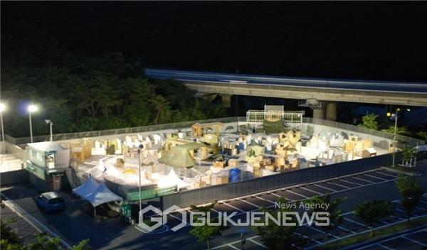 대구시설공단, 대구사격장 여름 야간 개장 전경사진