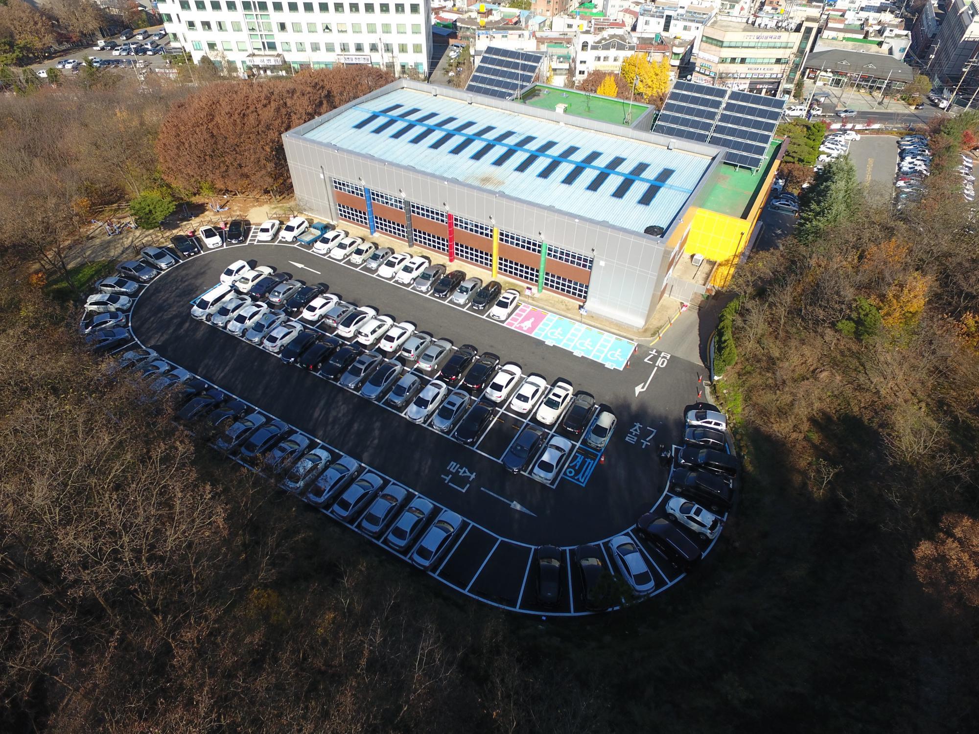 올림픽기념국민생활관 리모델링 - 고객주차장전경