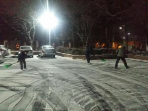 2017년 1월 두류수영장의 눈오는 날 새벽.... 사진